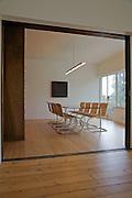 The dining room at Warren House, Wayne McGregor's Dartington Estate home in Devon<br /> Vanessa Berberian for The Wall Street Journal