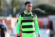 Forest Green Rovers Tahvon Campbell(25) during the EFL Sky Bet League 2 match between Accrington Stanley and Forest Green Rovers at the Wham Stadium, Accrington, England on 17 March 2018. Picture by Shane Healey.