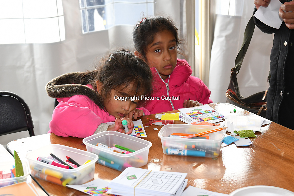 London, England, UK. 27 April 2019. Sikh Colouring Books | Sikh Kids Activities stall at the Vaisakhi Festival is a Sikh New Year in Trafalgar Square, London, UK.