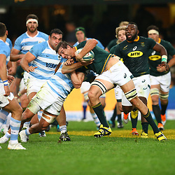 DURBAN, SOUTH AFRICA - AUGUST 18: Eben Etzebeth of South Africa during the Rugby Championship match between South Africa and Argentina at Jonsson Kings Park on August 18, 2018 in Durban, South Africa. (Photo by Steve Haag/Gallo Images)