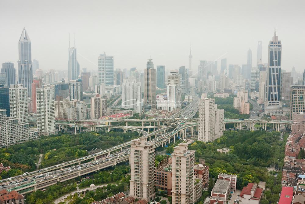 Skyscrapers seen across Shanghai China