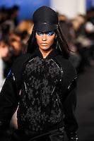 Jourdan Dunn walks down runway for F2012 Prabal Gurung's collection in Mercedes Benz fashion week in New York on Feb 10, 2012 NYC
