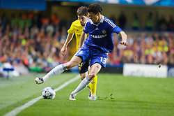 LONDON, ENGLAND - Wednesday, May 6, 2009: Chelsea's Michael Ballack and Barcelona's Lionel Messi during the UEFA Champions League Semi-Final 2nd Leg match at Stamford Bridge. (Photo by Carlo Baroncini/Propaganda)