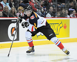 Alexander Bermistrov of the Barrie Colts in the Home Hardware Top Prospects Skills Competition in Windsor ON on Tuesday. Photo by Terry Wilson / OHL Images