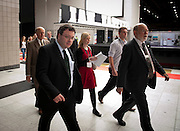.Dr. Stephen Farry Employment and Learning Minister for Northern Ireland arrives at  the ExCel Centre  in London on October 8th 2011.