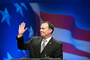 Feb 11, 2011 - Washington, District of Columbia, U.S. - Senator Mike Lee (R-UT) speaks to conservatives at the the annual Conservative Political Action Conference (CPAC) in Washington, D.C on Friday.  More than 11,000 activists and politicians are expected for the 38th annual conference. The three-day meeting is the largest conservative gathering of the year. (Credit Image: © Pete Marovich/ZUMA Press)
