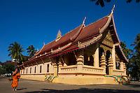 Laos, ville de Vientiane, temple Vat Ong Teu Mahawihan // Laos, Vientiane city, Vat Ong Teu Mahawihan temple