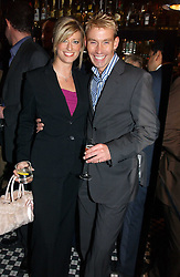 CAROLINE FERADAY and DR DAVID BULL at a fund raising dinner hosted by Marco Pierre White and Frankie Dettori's in aid of Conservative Party's General Election Campaign Fund held at Frankie's No.3 Yeoman's Row,æLondon SW3 on 17th January 2005.<br /><br />NON EXCLUSIVE - WORLD RIGHTS