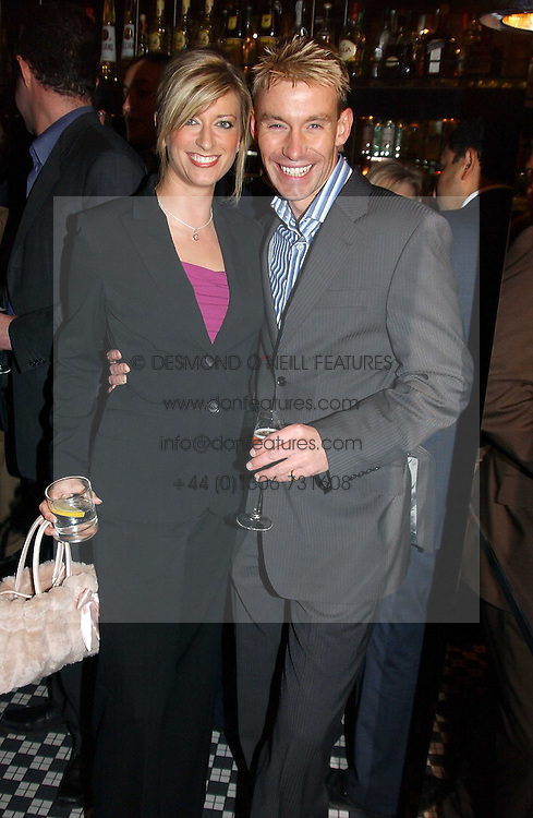 CAROLINE FERADAY and DR DAVID BULL at a fund raising dinner hosted by Marco Pierre White and Frankie Dettori's in aid of Conservative Party's General Election Campaign Fund held at Frankie's No.3 Yeoman's Row,æLondon SW3 on 17th January 2005.<br />