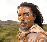 Portrait of Rapa Nui man, Easter Island, Chile