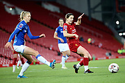 Liverpool women defender Niamh Fahey (5) and Everton women defender Esme Mogan (14) during the FA Women's Super League match between Liverpool Women and Everton Women at Anfield, Liverpool, England on 17 November 2019.