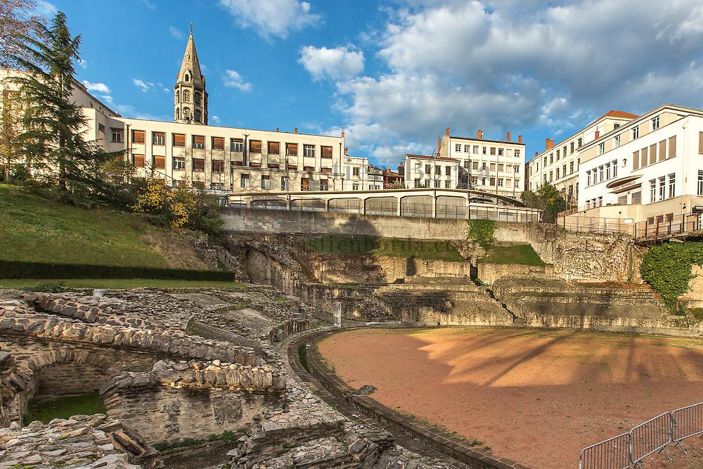 Amphithéâtre antique des Trois Gaules du quartier de la Croix-Rousse // Roman antique amphiteatre called : amphitéâtre des trois Gaules on la Croix-Rousse area