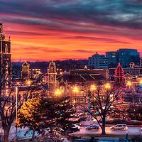 Plaza Lights - Country Club Plaza lit up for the Christmas/holiday season, Kansas City, Missouri.