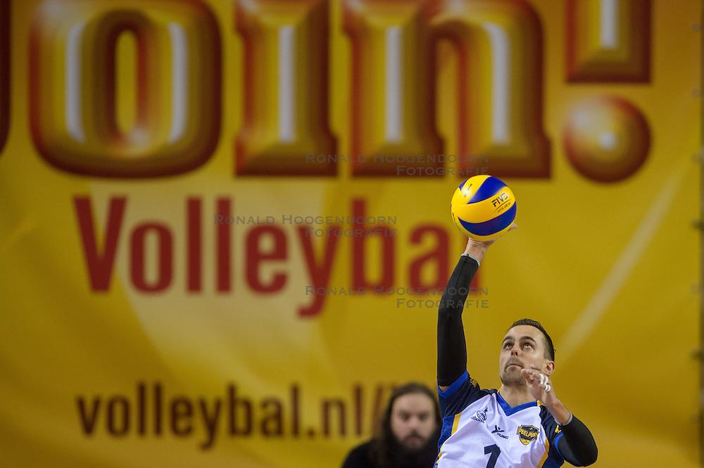 20-02-2015 NED: Landstede Volleybal - Peelpush, Almere<br /> Landstede verslaat in de halve finale Peelpush met 3-0 / Rogier Raemaekers