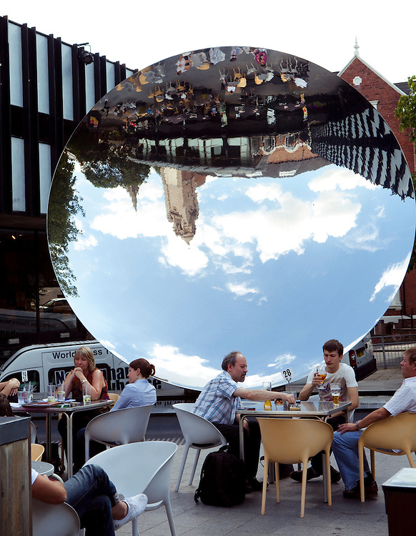 Public Art Piece 'Sky Mirror' by Anish Kapoor. Nottingham