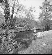 Fishing at Enniskeery, Co. Wicklow. 04/07/1953