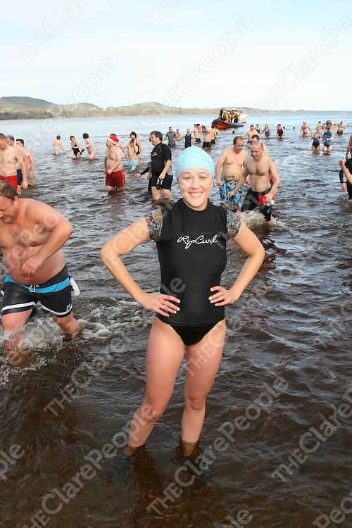 Joanne Dillon at the Christmas day swim at Killaloe, Co Clare.<br /> Picture: Marie McCallan /Press 22