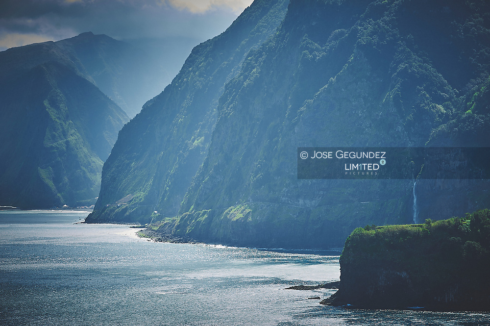 Cliffs of Madeira. Green Island. World Ocean Day