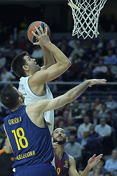 December 14, 2017 - Madrid, Spain - Felipe Reyes  of Real Madrid during the 2017/2018 Turkish Airlines Euroleague Regular Season Round 12 game between Real Madrid v FC Barcelona Lassa at Wizink Arena on December 14, 2017 in Madrid, Spain  (Credit Image: © Oscar Gonzalez/NurPhoto via ZUMA Press)