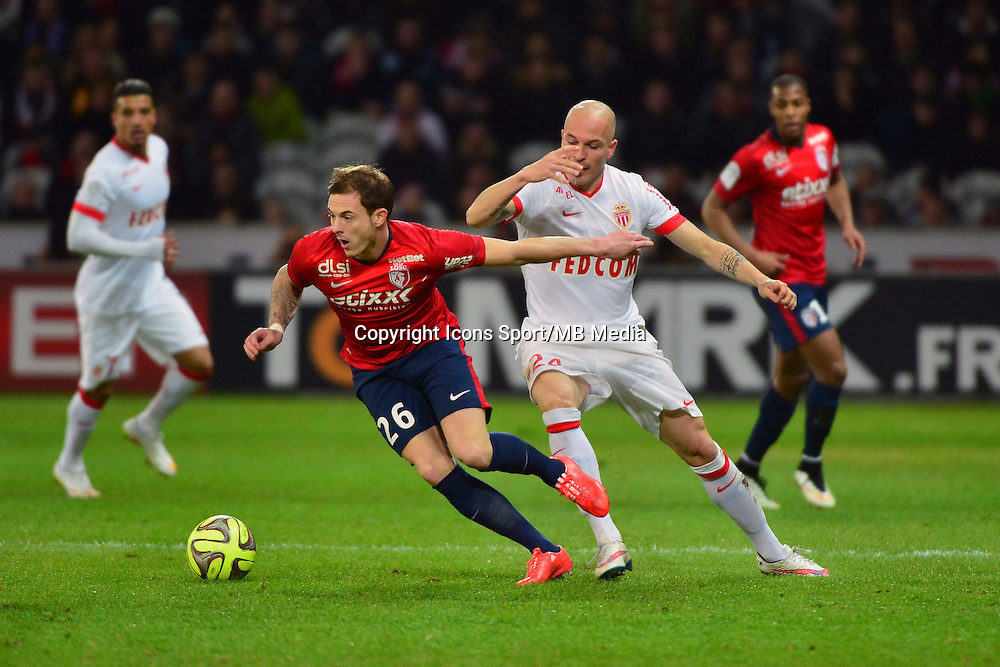 Nolan ROUX / Andrea RAGGI - 24.01.2015 - Lille / Monaco - 22eme journee de Ligue1<br />