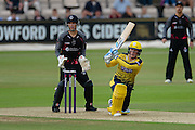 Tom Alsop of Hampshire during the NatWest T20 Blast South Group match between Hampshire County Cricket Club and Somerset County Cricket Club at the Ageas Bowl, Southampton, United Kingdom on 29 July 2016. Photo by David Vokes.
