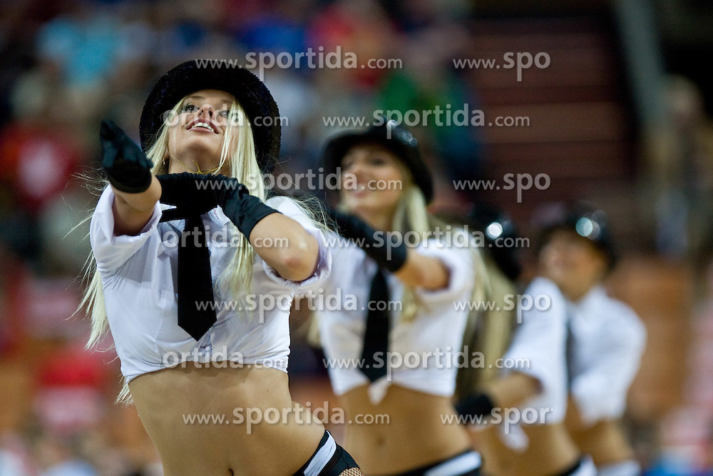 Cheerleaders Red Foxes during the EuroBasket 2009 Semi-final match between Slovenia and Serbia, on September 19, 2009, in Arena Spodek, Katowice, Poland. Serbia won after overtime 96:92.  (Photo by Vid Ponikvar / Sportida)