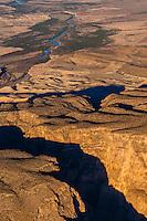 Aerial view of a canyon (Rio Grande River below), Big Bend National Park, Texas USA.