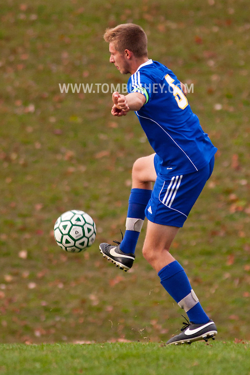 Slate Hill, New York  - Washingtonville plays Minisink Valley in a varsity boys' soccer game on Oct. 21, 2014. Washingtonville won 2-0