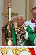San Giovanni Rotondo 21 Giugno 2009, Visita Pastorale di Sua Santità Papa Benedetto  XVI , Italy San Giovanni Rotondo 21 06 2009, Visit of  Papa Benedetto  XVI in the foto  inizio messa