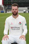Arron Lilley during the Lancashire County Cricket Club Media Day at the Emirates, Old Trafford, Manchester, United Kingdom on 11 April 2018. Picture by George Franks.