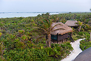 The world heritage site of Sian Ka'anis a large nature reserve of marshes, lagoons, mangroves and beach along a strip of land south of Tulum. Entrance is controlled and hotel options are limited, but the bird watching is exceptional.<br /> Options to stay in this protected area are limited, but if there is space at the Centro Ecologico Sian Ka'an, you can get a elevated tent cabin right near the beach where you will leave the crowds of Tulum behind. The Centro is a small retreat that is mainly used to train scientists and for conservation and education, but from it you have access to both the ocean and the lagoon and people who really know the area.