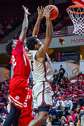 NORMAL, IL - February 26: Keith Fisher III gets rebounding position on Ja'Shon Henry during a college basketball game between the ISU Redbirds and the Bradley Braves on February 26 2020 at Redbird Arena in Normal, IL. (Photo by Alan Look)