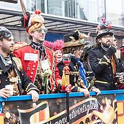 NLD/Eindhoven/20190302  - Romario bij carnavalsoptocht 2019 in Eindhoven, Praalwagen D'un 29ste Prins Bock d'un urste