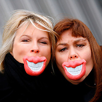 Jennifer Saunders and Dawn French promoting their Glasgow show as part of the Magners Comedy Festival.