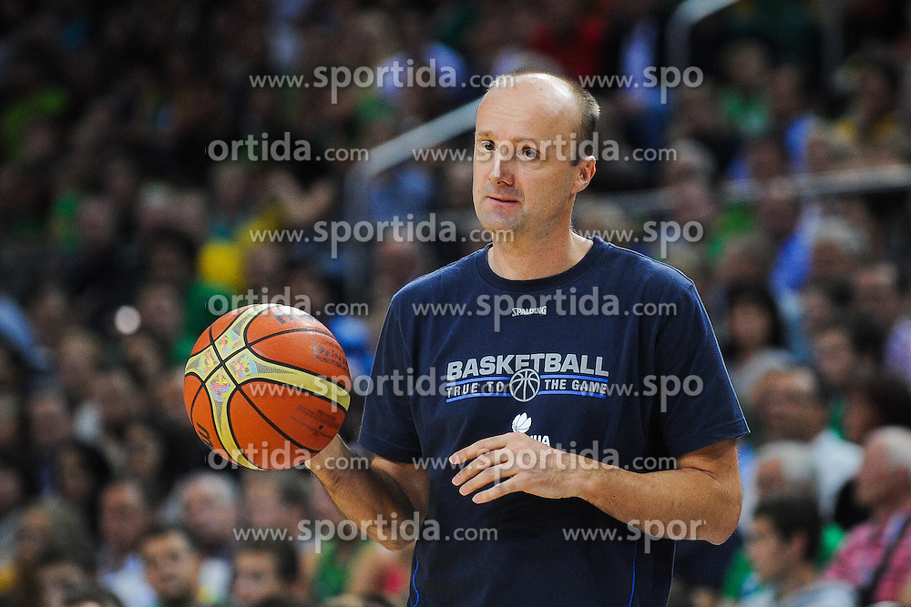 Jure Zdovc, head coach of Slovenia during friendly match between National Teams of Slovenia and Lithuania before World Championship Spain 2014 on August 18, 2014 in Kaunas, Lithuania. Photo by Robertas Dackus / Sportida.com
