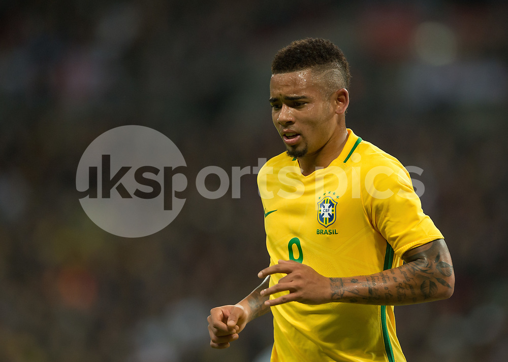 Gabriel Jesus of Brazil during the International Friendly match between England and Brazil at Wembley Stadium, London, England on 14 November 2017. Photo by Vince Mignott.