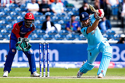 Jonny Bairstow of England plays a cover drive - Mandatory by-line: Robbie Stephenson/JMP - 18/06/2019 - CRICKET- Old Trafford - Manchester, England - England v Afghanistan - ICC Cricket World Cup 2019 group stage