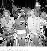 Nan Kempner, Jane Wrightsman, Susan Gutfreund. Chanel couture  fashion show. Paris. <br />July 1991. Film 91868f23<br />© Copyright Photograph by Dafydd Jones<br />66 Stockwell Park Rd. London SW9 0DA Tel 0171 733 0108