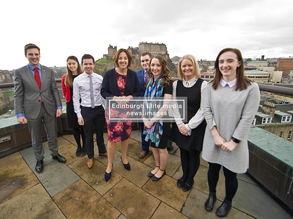 Pictured: <br /> Scottish Labour leader Kezia Dugdale, MSP,  visited Standard Life today in Edinburgh to meet staff at the start of Apprenticeship Week.<br /> <br /> Ger Harley | EEm 6 March 2017