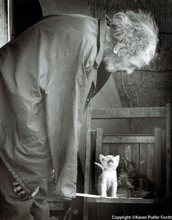 Hank was an elderly man, living alone in a run down house in Northwest Indiana. His world revolved around his pets. He said neighborhood children wanted to poison his animals. The local newspaper did a simple story on Hank,and there was an outpouring of love for Hank and his pets after his story ran. Hank was an old dirty man, in an old dirty house, but his animals saw him in an unconditional way. They gave him unconditional love.
