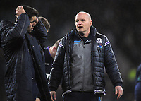Rugby Union - 2019 Guinness Six Nations Championship - (Calcutta Cup) England vs. Scotland<br /> <br /> Scotland head coach Gregor Townsend consoles players after conceding a late try to level the match, at Twickenham.<br /> <br /> COLORSPORT/ANDREW COWIE