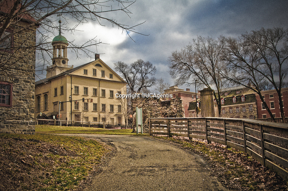 Winding path to Historic Moravian Church Bethlehem Pennsylvania Lehigh Valley