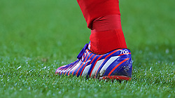 BOLTON, ENGLAND - Wednesday, February 4, 2015: Liverpool's captain Steven Gerrard with 700 on his boots to mark his 700th appearance for the club during the FA Cup 4th Round Replay match against Bolton Wanderers at the Reebok Stadium. (Pic by David Rawcliffe/Propaganda)