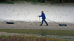Henk in training for the Camino 2020 at the Soesterduinen on March 08, 2020 in Soest, Netherlands