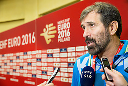 Veselin Vujovic, head coach of Slovenia after the handball match between National teams of Germany and Slovenia on Day 6 in Preliminary Round of Men's EHF EURO 2016, on January 20, 2016 in Centennial Hall, Wroclaw, Poland. Photo by Vid Ponikvar / Sportida