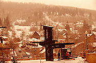the Town Lift in downtown Park City, Utah USA