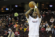 Jan 31, 2010; Cleveland, OH, USA; Cleveland Cavaliers guard Daniel Gibson (1) warms up prior to the game against the LA Clippers at Quicken Loans Arena. Mandatory Credit: Jason Miller-US PRESSWIRE