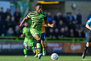 Forest Green Rovers Ebou Adams(14) runs forward during the EFL Sky Bet League 2 match between Forest Green Rovers and Mansfield Town at the New Lawn, Forest Green, United Kingdom on 19 October 2019.