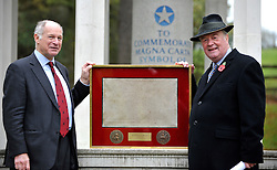 ©London News pictures...12/11/2010. (L-R) Lord Neuberger and Ken Clarke with The Magna Carta. The launch of five years of celebrations leading up to the 800th anniversary of the Magna Carta in 2015. The launch drew attention to the Magna Carta as one of the most important legal, political and constitutional documents in history. Those attending included Justice Secretary Ken Clarke, Master of the Rolls, Lord Neuberger and Minister for Justice Lord McNally. They will be joined by members of the judiciary, the worlds of politics and law.