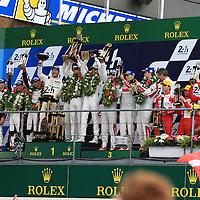 #2, Porsche 919 Hybrid, Porsche Team, Romain Dumas, Neel Jani, Marc Lieb #6, Toyota Gazoo Racing TS050 Hybrid, driven by, Stephane Sarrazin, Mike Conway, Kamui Kobayashi. #8, Audi R18 e-tron quattro, Audi Sport Team Joest, driven by Lucas di Grassi, Loic Duval, Oliver Jarvis, 24 Heures Du Mans , 19/06/2016,